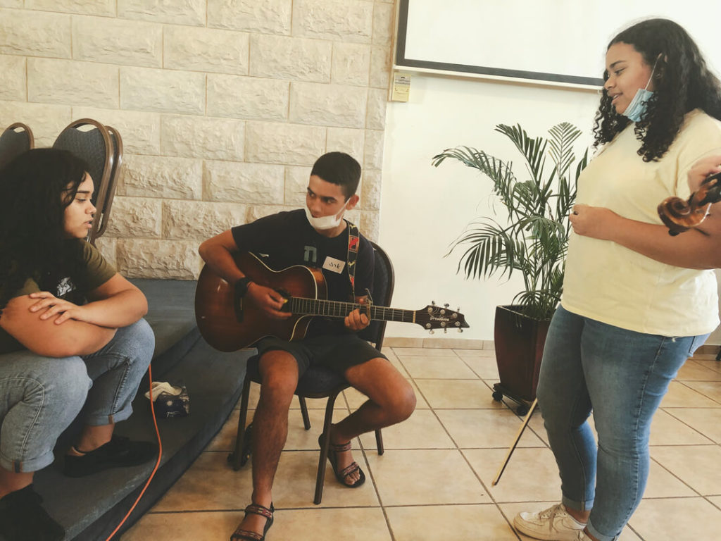 Songwriting with the Dor Haba Collaborative.